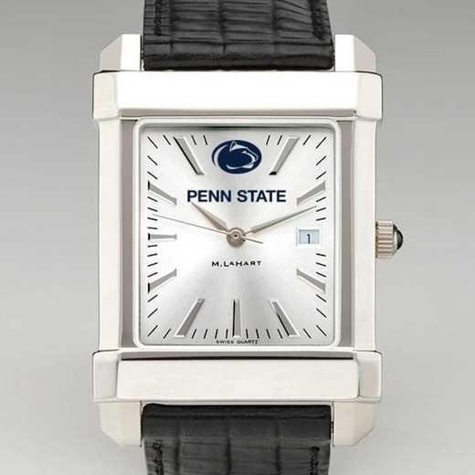 615789885658: Penn State Men's Collegiate Watch W/ Leather Strap