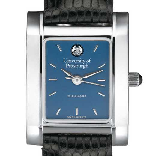 615789342830: Pittsburgh Women's Blue Quad Watch W/ Leather Strap