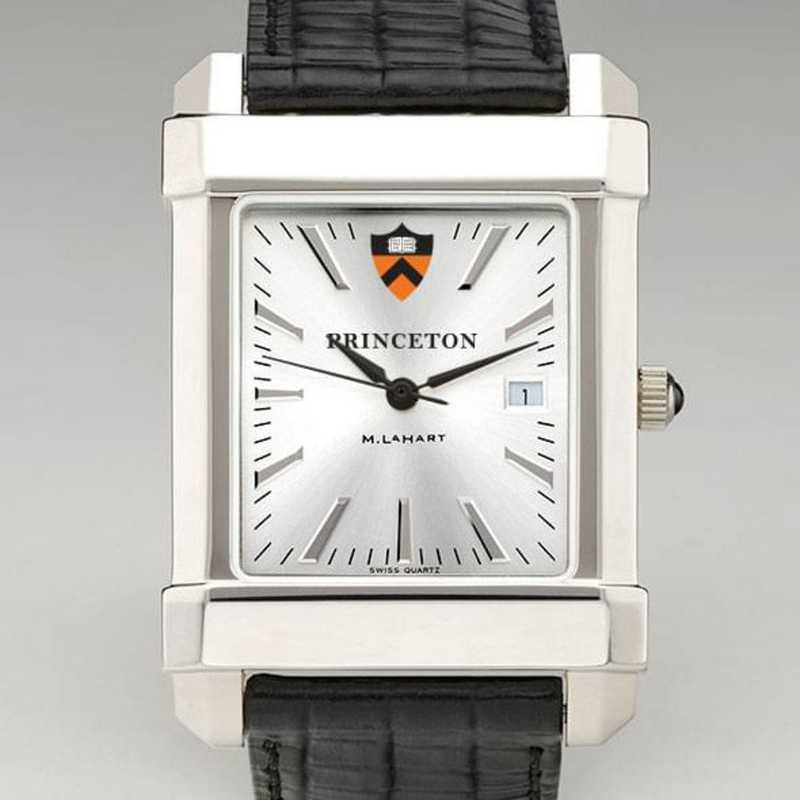 615789915515: Princeton Men's Collegiate Watch W/ Leather Strap