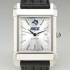 615789276791: Rice Univ Men's Collegiate Watch W/ Leather Strap