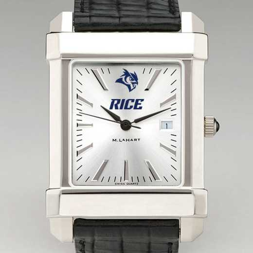 615789276791: Rice Univ Men's Collegiate Watch W/ Leather Strap