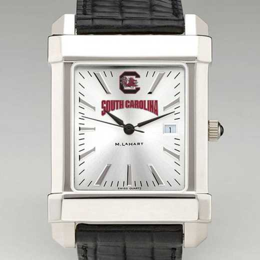 615789840336: South Carolina Men's Collegiate Watch W/ Leather Strap