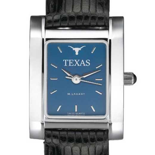 615789787617: Texas Women's Blue Quad Watch W/ Leather Strap