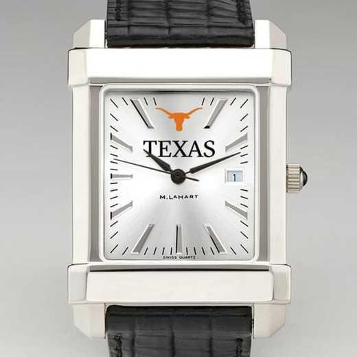 615789919155: Texas Men's Collegiate Watch W/ Leather Strap