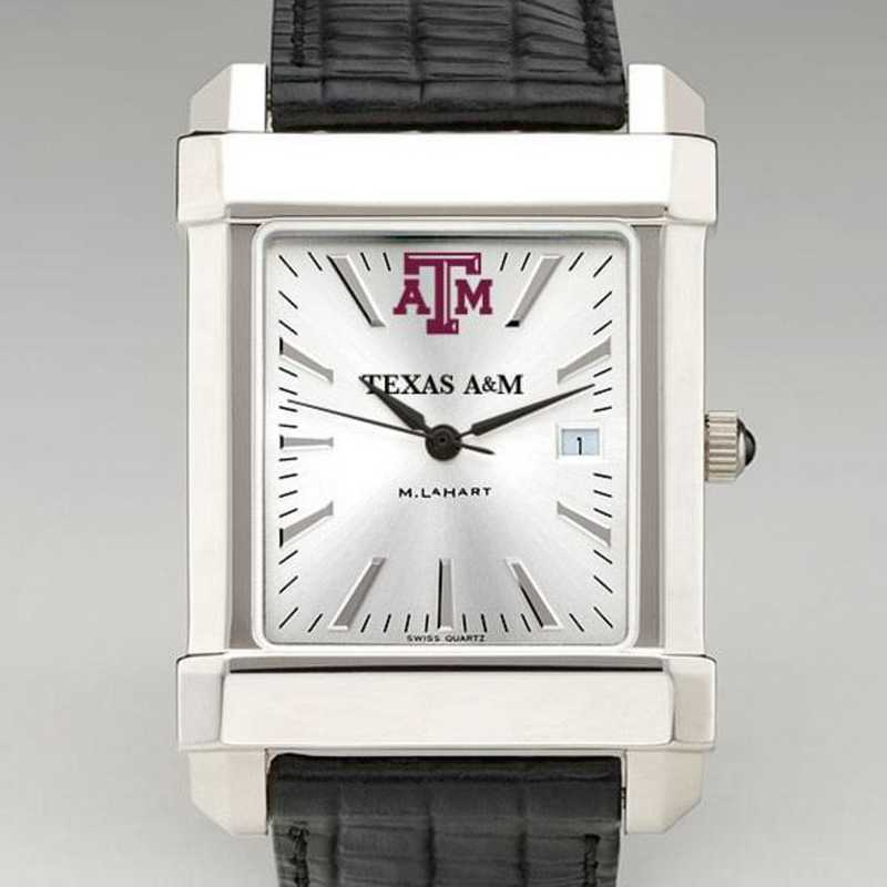 615789454649: Texas A&M Men's Collegiate Watch W/ Leather Strap