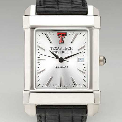 615789718550: Texas Tech Men's Collegiate Watch W/ Leather Strap