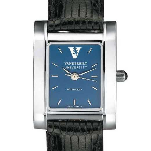 615789585701: Vanderbilt Women's Blue Quad Watch W/ Leather Strap