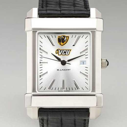 615789920304: VCU Men's Collegiate Watch W/ Leather Strap