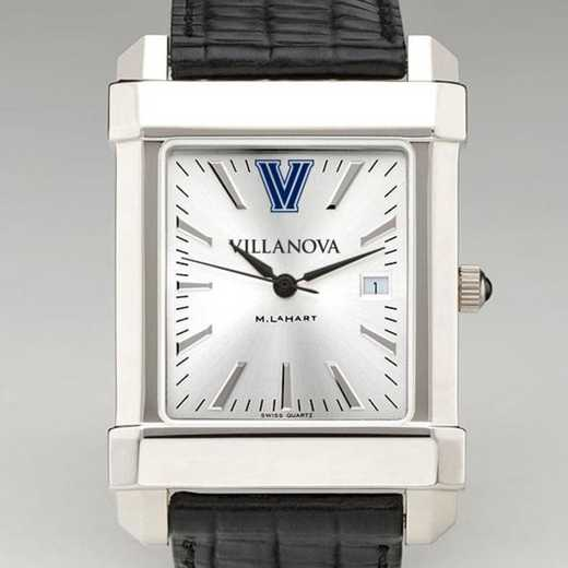 615789088080: Villanova Men's Collegiate Watch W/ Leather Strap