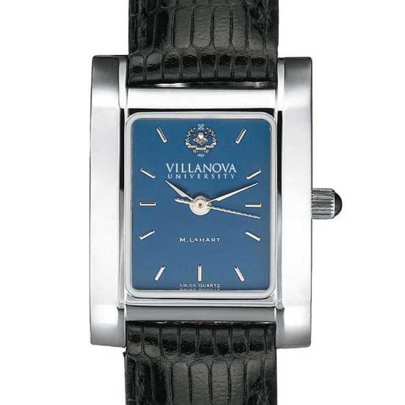 615789188773: Villanova Women's Blue Quad Watch W/ Leather Strap