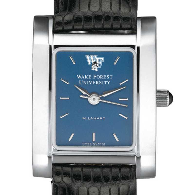 615789080749: Wake Forest Women's Blue Quad Watch W/ Leather Strap