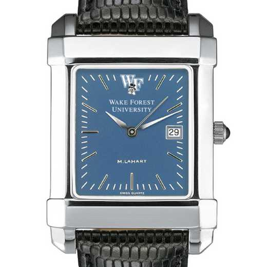 615789652199: Wake Forest Men's Blue Quad Watch W/ Leather Strap