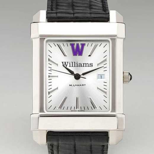 615789591399: Williams College Men's Collegiate Watch W/ Leather Strap