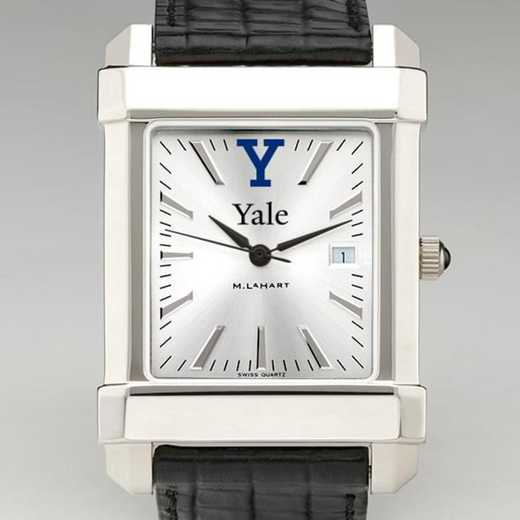615789613169: Yale Men's Collegiate Watch W/ Leather Strap