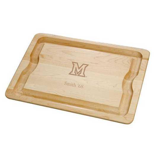 615789116479: Miami UNIV Maple Cutting Board by M.LaHart & Co.