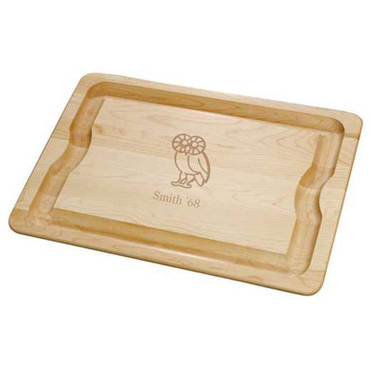 615789375326: Rice UNIV Maple Cutting Board by M.LaHart & Co.