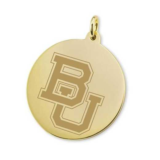 615789521990: Baylor 14K Gold Charm by M.LaHart & Co.