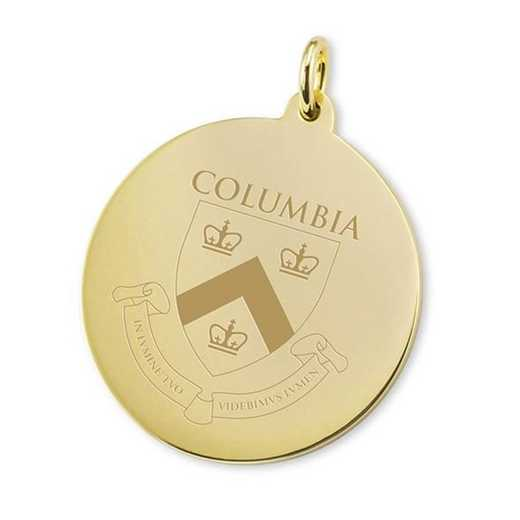 615789687191: Columbia 14K Gold Charm by M.LaHart & Co.