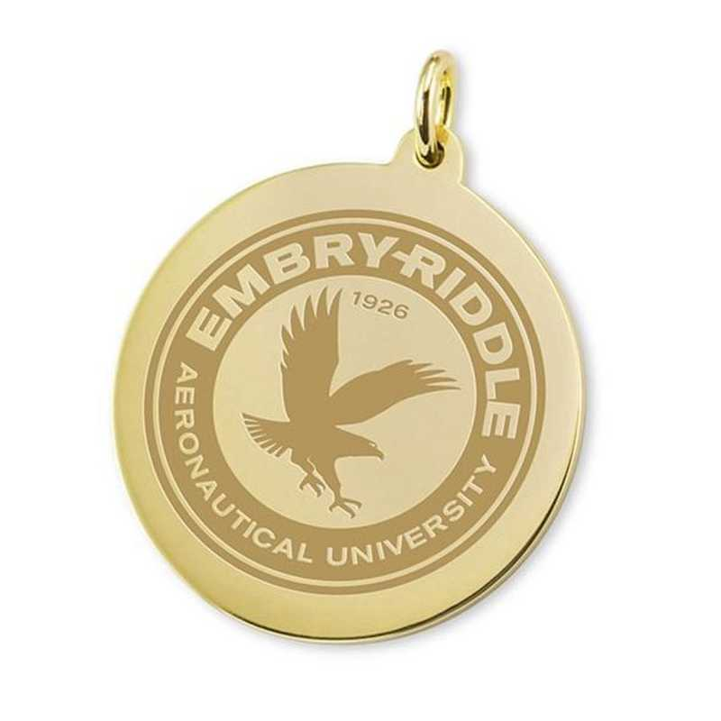 615789805083: Embry-Riddle 14K Gold Charm by M.LaHart & Co.