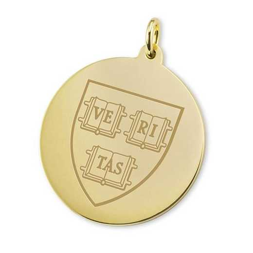 615789217350: Harvard 14K Gold Charm by M.LaHart & Co.