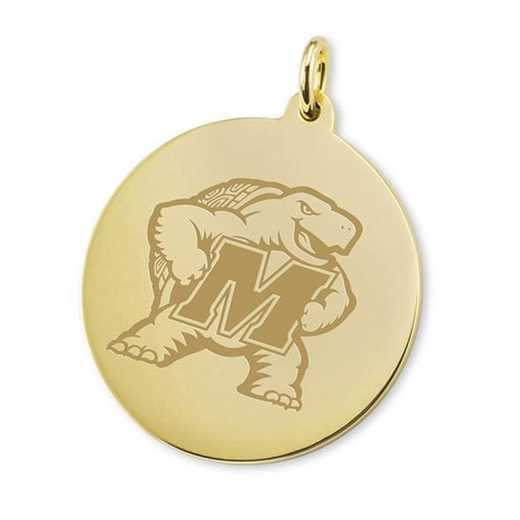 615789700623: Maryland 14K Gold Charm by M.LaHart & Co.