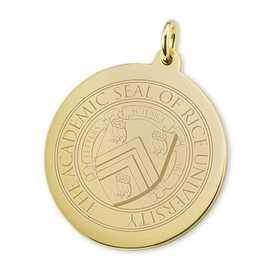615789148388: Rice University 14K Gold Charm by M.LaHart & Co.