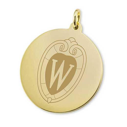 615789703136: Wisconsin 14K Gold Charm by M.LaHart & Co.
