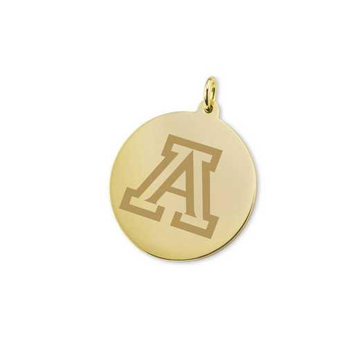 615789591009: University of Arizona 18K Gold Charm by M.LaHart & Co.