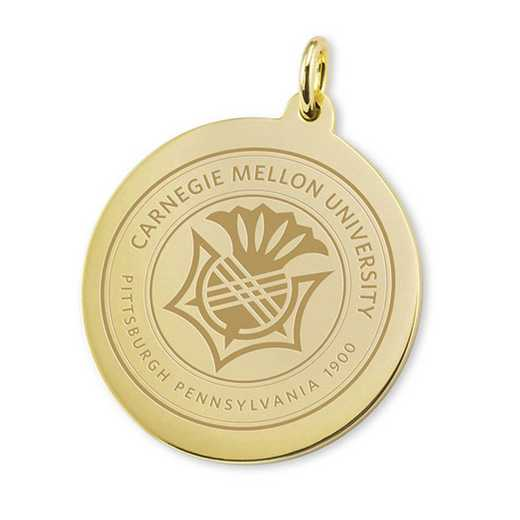 615789631101: Carnegie Mellon University 18K Gold Charm by M.LaHart & Co.
