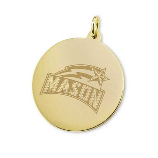 615789784647: George Mason University 18K Gold Charm by M.LaHart & Co.