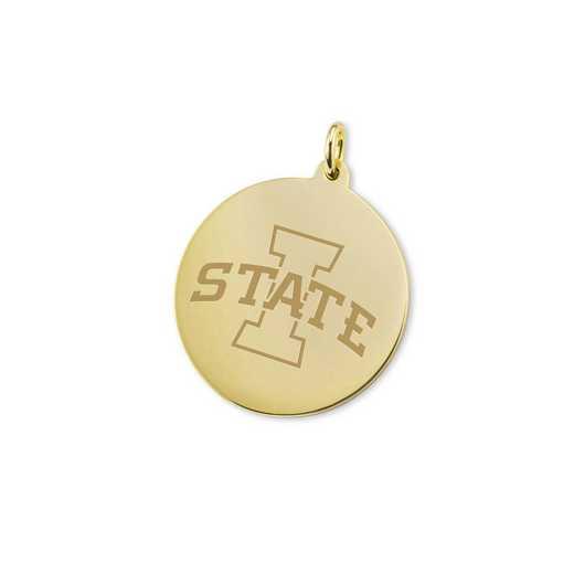 615789791386: Iowa State University 18K Gold Charm by M.LaHart & Co.