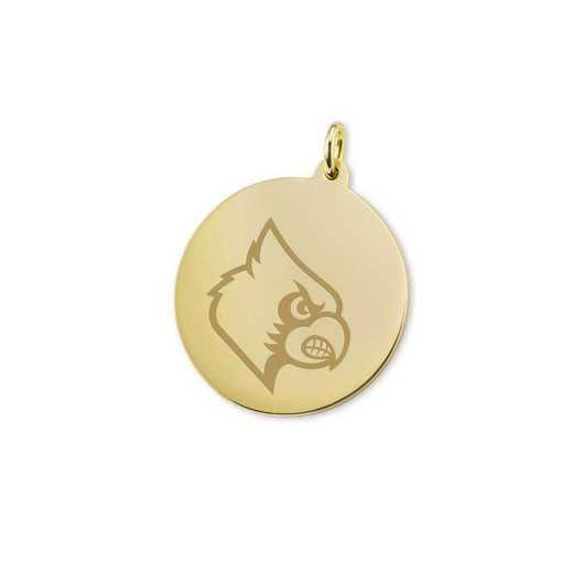 615789132172: University of Louisville 18K Gold Charm by M.LaHart & Co.