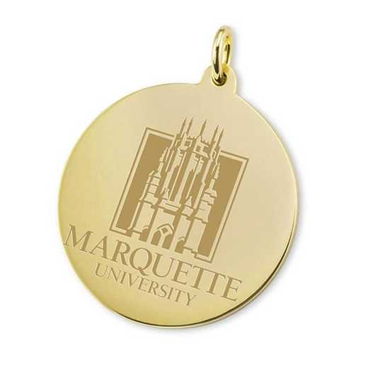 615789981800: Marquette 18K Gold Charm by M.LaHart & Co.
