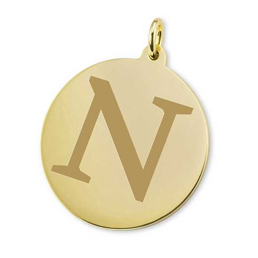 615789395331: Northwestern 18K Gold Charm by M.LaHart & Co.