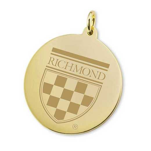 615789512097: University of Richmond 18K Gold Charm by M.LaHart & Co.
