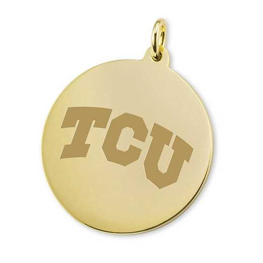 615789604112: TCU 18K Gold Charm by M.LaHart & Co.