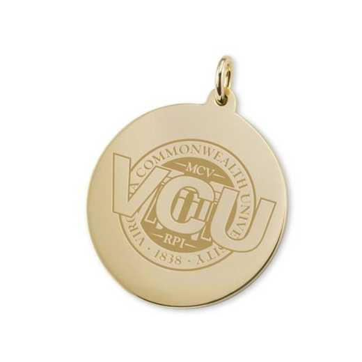 615789774228: VCU 18K Gold Charm by M.LaHart & Co.