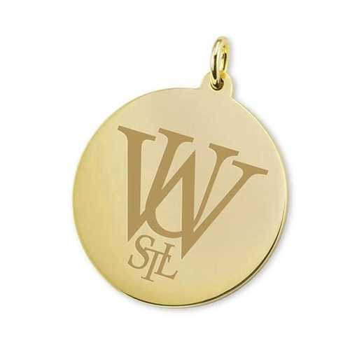 615789500759: WUSTL 18K Gold Charm by M.LaHart & Co.