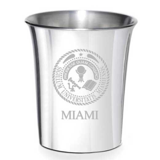 615789349662: Miami University Pewter Jigger by M.LaHart & Co.
