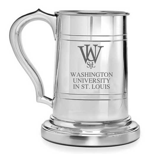 615789828365: WUSTL Pewter Stein by M.LaHart & Co.