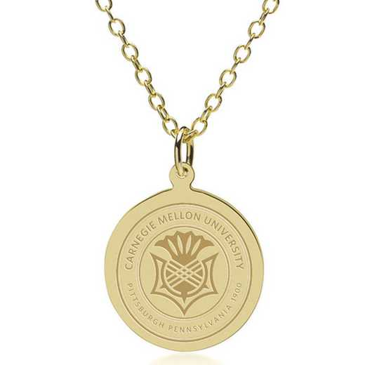 615789768364: Carnegie Mellon University 14K Gold Pendant & Chain by M.LaHart & Co.