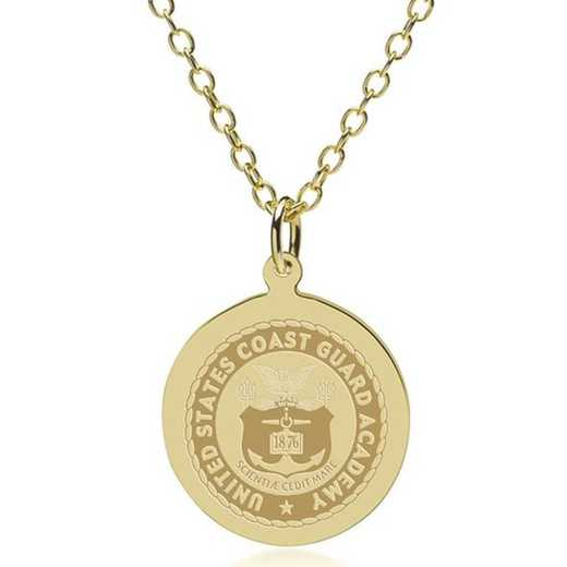 615789160038: USCGA 14K Gold Pendant & Chain by M.LaHart & Co.