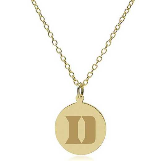 615789119593: Duke 14K Gold Pendant & Chain by M.LaHart & Co.