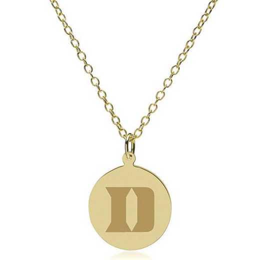 615789119593: Duke 14K Gold Pendant & Chain by M.LaHart & Co.