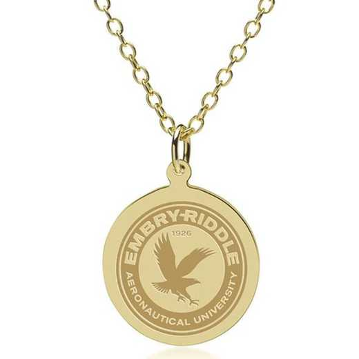 615789231127: Embry-Riddle 14K Gold Pendant & Chain by M.LaHart & Co.