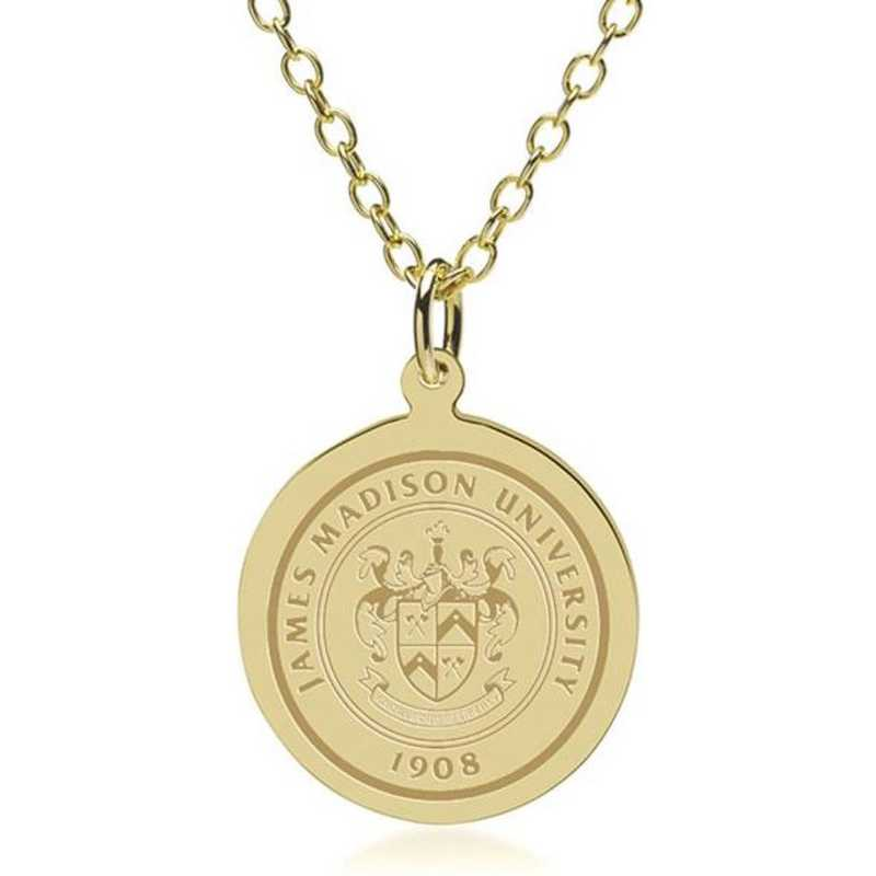 615789223344: James Madison 14K Gold Pendant & Chain by M.LaHart & Co.