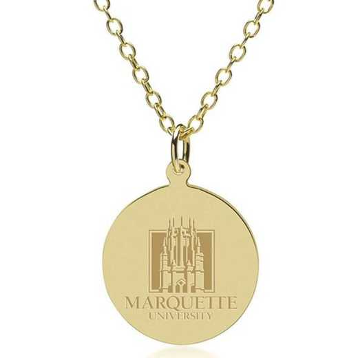 615789727125: Marquette 14K Gold Pendant & Chain by M.LaHart & Co.