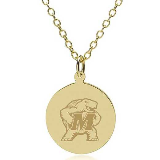 615789191445: Maryland 14K Gold Pendant & Chain by M.LaHart & Co.