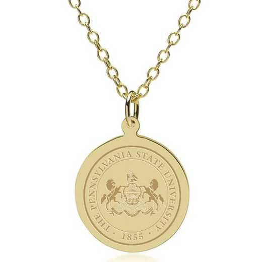 615789308591: Penn State 14K Gold Pendant & Chain by M.LaHart & Co.