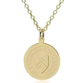 615789391104: Rice University 14K Gold Pendant & Chain by M.LaHart & Co.